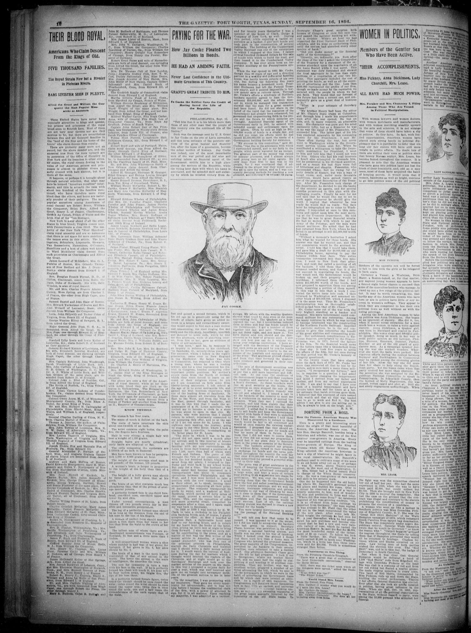 Fort Worth Gazette. (Fort Worth, Tex.), Vol. 18, No. 297, Ed. 1, Sunday, September 16, 1894                                                                                                      [Sequence #]: 12 of 16