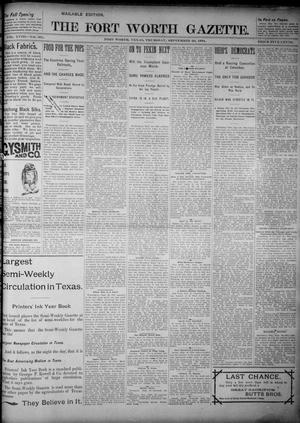 Primary view of object titled 'Fort Worth Gazette. (Fort Worth, Tex.), Vol. 18, No. 301, Ed. 1, Thursday, September 20, 1894'.