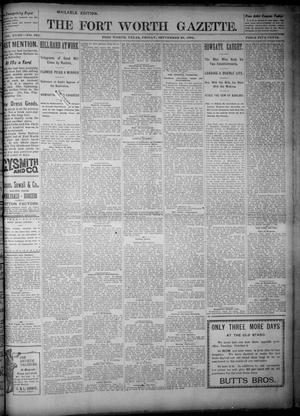 Primary view of object titled 'Fort Worth Gazette. (Fort Worth, Tex.), Vol. 18, No. 309, Ed. 1, Friday, September 28, 1894'.