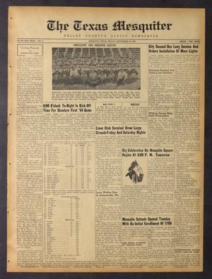 The Texas Mesquiter (Mesquite, Tex.), Vol. 72, No. 8, Ed. 1 Friday, September 10, 1954
