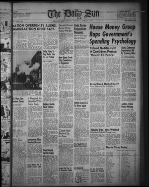 Primary view of object titled 'The Daily Sun (Goose Creek, Tex.), Vol. 28, No. 253, Ed. 1 Tuesday, April 9, 1946'.