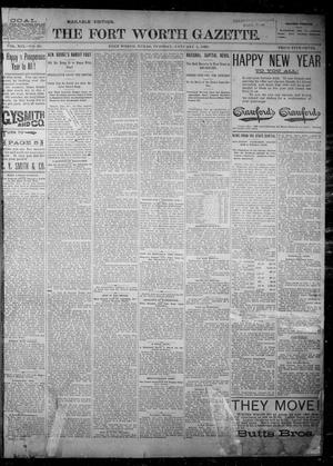 Primary view of object titled 'Fort Worth Gazette. (Fort Worth, Tex.), Vol. 19, No. 39, Ed. 1, Tuesday, January 1, 1895'.
