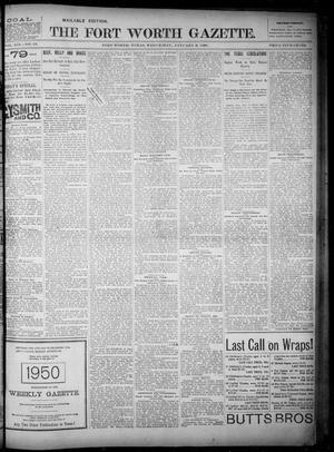 Fort Worth Gazette. (Fort Worth, Tex.), Vol. 19, No. 45, Ed. 1, Wednesday, January 9, 1895