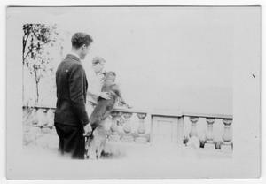[Robert K. Blackshear and Unidentified person with Dog]