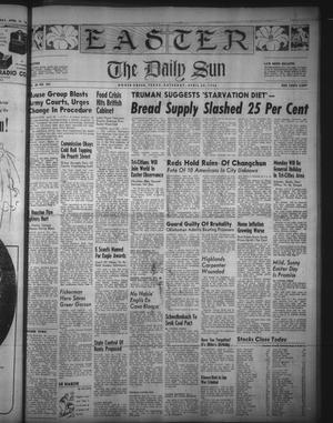 Primary view of object titled 'The Daily Sun (Goose Creek, Tex.), Vol. 28, No. 263, Ed. 1 Saturday, April 20, 1946'.