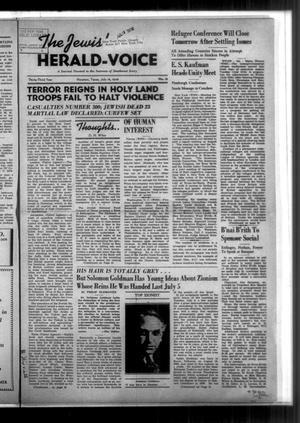 Primary view of The Jewish Herald-Voice (Houston, Tex.), Vol. 33, No. 15, Ed. 1 Thursday, July 14, 1938