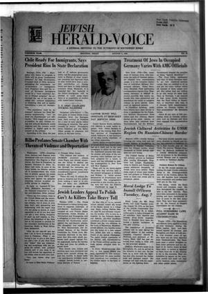 Primary view of object titled 'Jewish Herald-Voice (Houston, Tex.), Vol. 40, No. 18, Ed. 1 Thursday, August 2, 1945'.