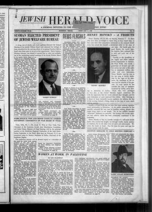 Primary view of object titled 'Jewish Herald-Voice (Houston, Tex.), Vol. 34, No. 45, Ed. 1 Thursday, February 1, 1940'.