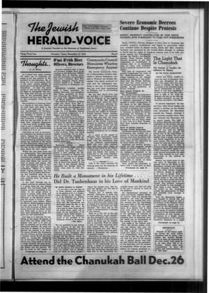 Primary view of The Jewish Herald-Voice (Houston, Tex.), Vol. 33, No. 37, Ed. 1 Thursday, December 15, 1938