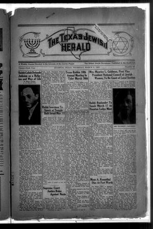 Primary view of The Texas Jewish Herald (Houston, Tex.), Vol. 29, No. 48, Ed. 1 Thursday, March 5, 1936