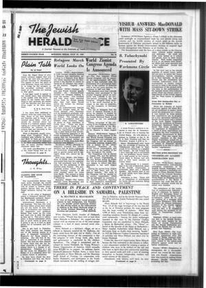 Primary view of The Jewish Herald-Voice (Houston, Tex.), Vol. 34, No. 18, Ed. 1 Thursday, July 27, 1939