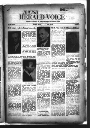 Primary view of object titled 'Jewish Herald-Voice (Houston, Tex.), Vol. 42, No. 7, Ed. 1 Thursday, May 22, 1947'.