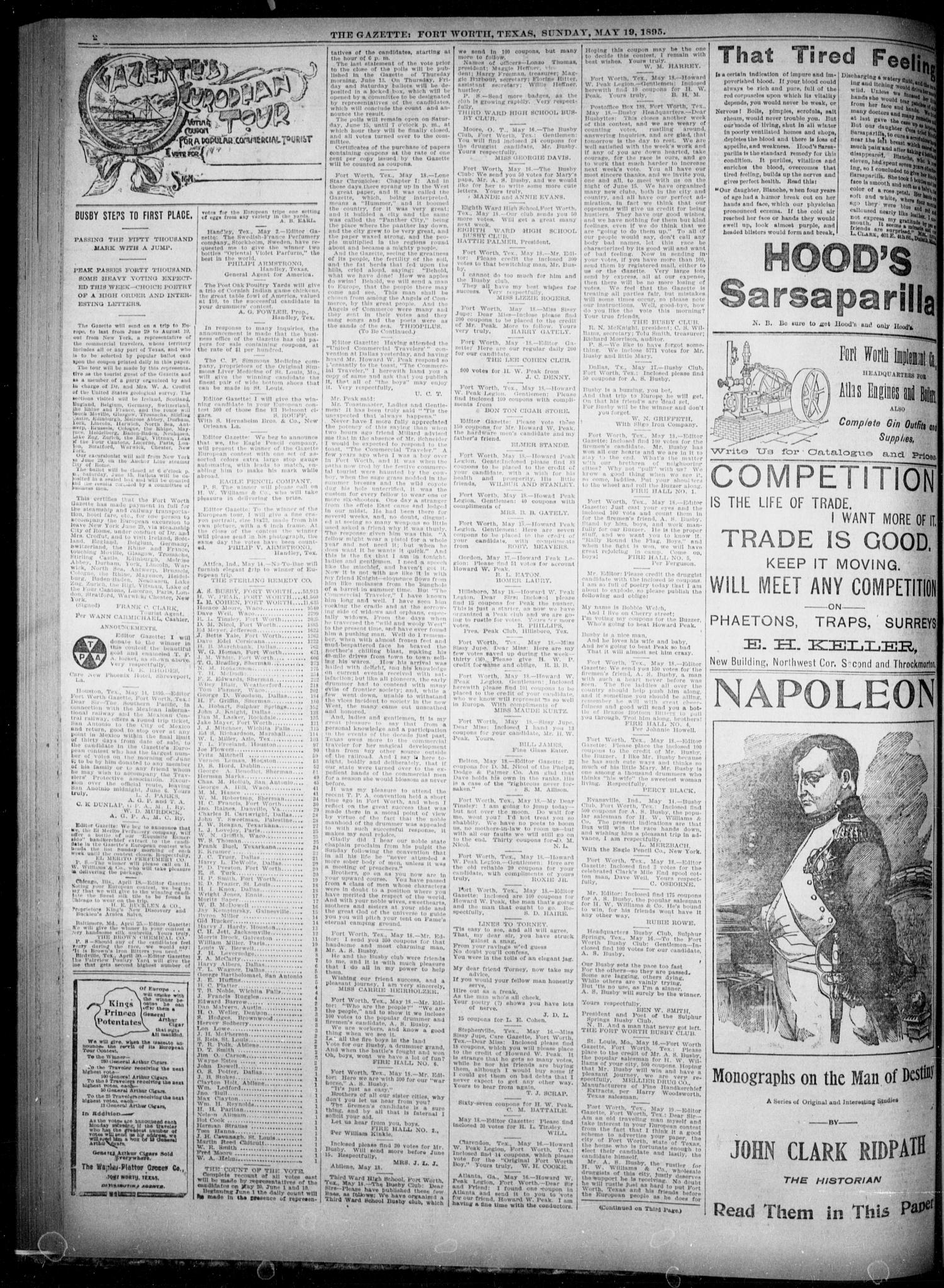 Fort Worth Gazette  (Fort Worth, Tex ), Vol  19, No  175, Ed
