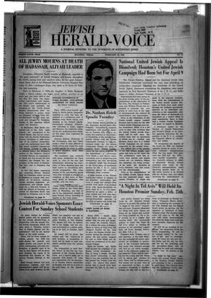 Primary view of object titled 'Jewish Herald-Voice (Houston, Tex.), Vol. 39, No. 47, Ed. 1 Thursday, February 22, 1945'.