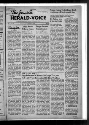 Primary view of The Jewish Herald-Voice (Houston, Tex.), Vol. 33, No. 22, Ed. 1 Thursday, September 1, 1938