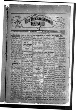 Primary view of object titled 'The Texas Jewish Herald (Houston, Tex.), Vol. 29, No. 37, Ed. 1 Thursday, December 19, 1935'.