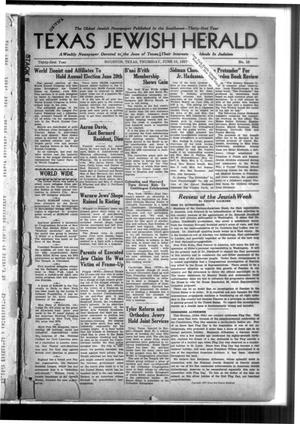 Primary view of Texas Jewish Herald (Houston, Tex.), Vol. 31, No. 10, Ed. 1 Thursday, June 10, 1937