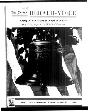 Primary view of object titled 'Jewish Herald-Voice (Houston, Tex.), Vol. 38, No. 6, Ed. 1 Thursday, April 15, 1943'.