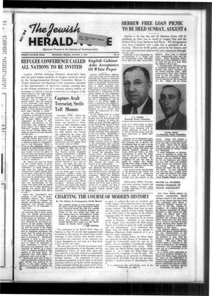 Primary view of The Jewish Herald-Voice (Houston, Tex.), Vol. 34, No. 19, Ed. 1 Thursday, August 3, 1939