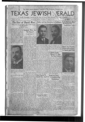 Primary view of Texas Jewish Herald (Houston, Tex.), Vol. 31, No. 1, Ed. 1 Thursday, April 8, 1937