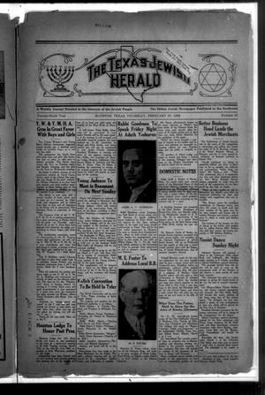 Primary view of The Texas Jewish Herald (Houston, Tex.), Vol. 29, No. 47, Ed. 1 Thursday, February 27, 1936