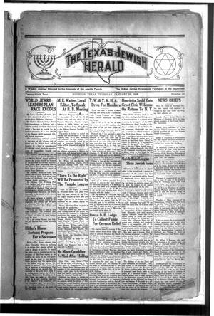 Primary view of The Texas Jewish Herald (Houston, Tex.), Vol. 29, No. 43, Ed. 1 Thursday, January 30, 1936
