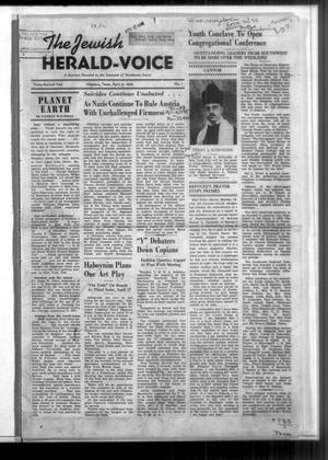 Primary view of The Jewish Herald-Voice (Houston, Tex.), Vol. 32, No. 1, Ed. 1 Wednesday, April 6, 1938