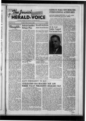 Primary view of The Jewish Herald-Voice (Houston, Tex.), Vol. 33, No. 40, Ed. 1 Thursday, January 5, 1939