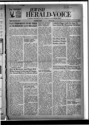 Primary view of object titled 'Jewish Herald-Voice (Houston, Tex.), Vol. 37, No. 19, Ed. 1 Thursday, July 16, 1942'.