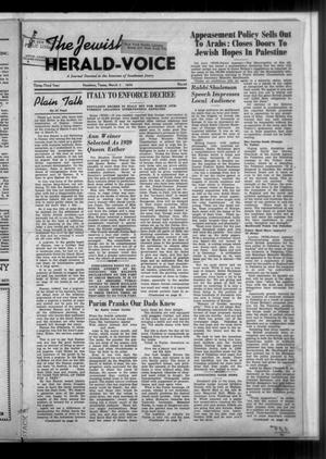 Primary view of The Jewish Herald-Voice (Houston, Tex.), Vol. 33, No. 48, Ed. 1 Thursday, March 2, 1939
