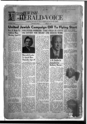 Primary view of object titled 'Jewish Herald-Voice (Houston, Tex.), Vol. 40, No. 2, Ed. 1 Thursday, April 12, 1945'.