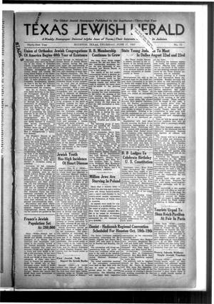 Primary view of Texas Jewish Herald (Houston, Tex.), Vol. 31, No. 11, Ed. 1 Thursday, June 17, 1937