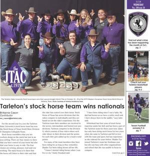 JTAC News (Stephenville, Tex.), Vol. 199, No. 10, Ed. 1 Wednesday, November 7, 2018