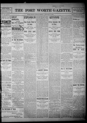 Primary view of object titled 'Fort Worth Gazette. (Fort Worth, Tex.), Vol. 20, No. 31, Ed. 1, Friday, January 3, 1896'.