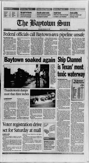 Primary view of object titled 'The Baytown Sun (Baytown, Tex.), Vol. 74, No. 283, Ed. 1 Wednesday, September 25, 1996'.