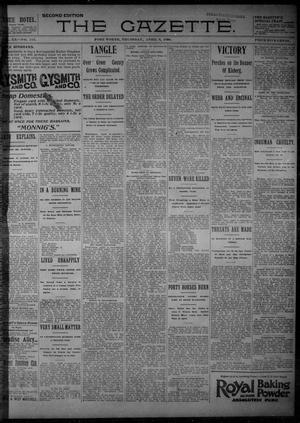 Primary view of object titled 'Fort Worth Gazette. (Fort Worth, Tex.), Vol. 20, No. 113, Ed. 1, Thursday, April 9, 1896'.