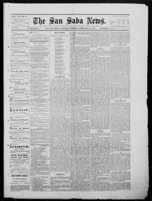 Primary view of object titled 'The San Saba News. (San Saba, Tex.), Vol. 6, No. 28, Ed. 1, Saturday, February 14, 1880'.