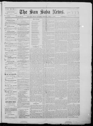 Primary view of object titled 'The San Saba News. (San Saba, Tex.), Vol. 6, No. 38, Ed. 1, Wednesday, April 21, 1880'.