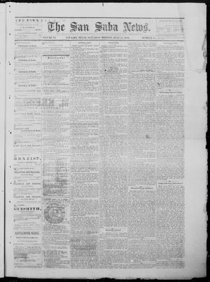 Primary view of object titled 'The San Saba News. (San Saba, Tex.), Vol. 6, No. 45, Ed. 1, Saturday, July 17, 1880'.