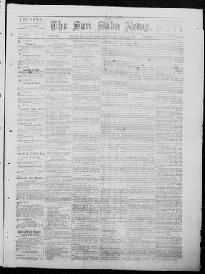 Primary view of object titled 'The San Saba News. (San Saba, Tex.), Vol. 7, No. 16, Ed. 1, Saturday, December 25, 1880'.
