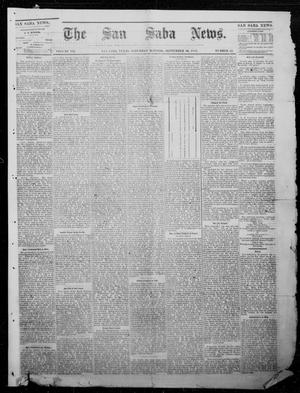 Primary view of object titled 'The San Saba News. (San Saba, Tex.), Vol. 7, No. 52, Ed. 1, Saturday, September 10, 1881'.