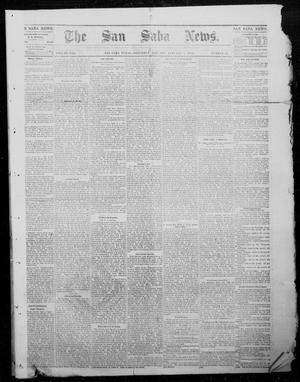 Primary view of object titled 'The San Saba News. (San Saba, Tex.), Vol. 8, No. 17, Ed. 1, Saturday, January 7, 1882'.