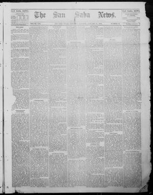 Primary view of object titled 'The San Saba News. (San Saba, Tex.), Vol. 8, No. 20, Ed. 1, Saturday, January 28, 1882'.