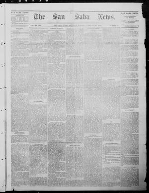 Primary view of object titled 'The San Saba News. (San Saba, Tex.), Vol. 8, No. 22, Ed. 1, Saturday, February 11, 1882'.