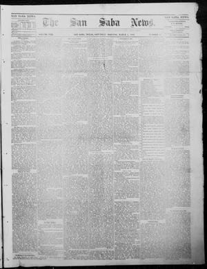 Primary view of object titled 'The San Saba News. (San Saba, Tex.), Vol. 8, No. 25, Ed. 1, Saturday, March 4, 1882'.