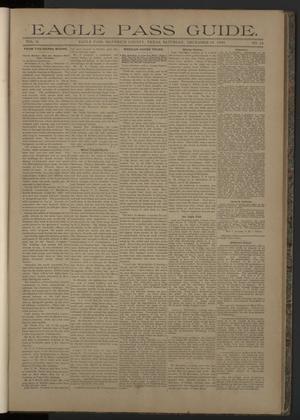 Eagle Pass Guide. (Eagle Pass, Tex.), Vol. 6, No. 16, Ed. 1 Saturday, December 16, 1893