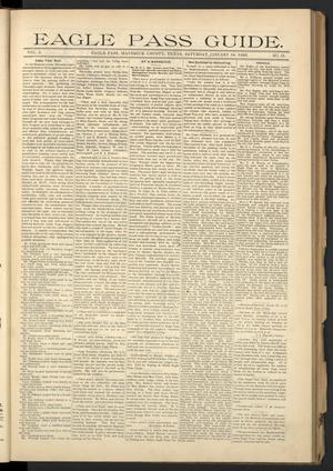 Eagle Pass Guide. (Eagle Pass, Tex.), Vol. 8, No. 21, Ed. 1 Saturday, January 18, 1896