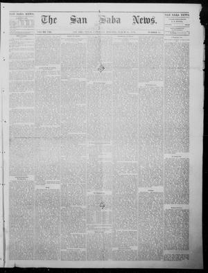 Primary view of object titled 'The San Saba News. (San Saba, Tex.), Vol. 8, No. 27, Ed. 1, Saturday, March 18, 1882'.