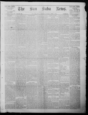Primary view of object titled 'The San Saba News. (San Saba, Tex.), Vol. 8, No. 30, Ed. 1, Saturday, April 8, 1882'.