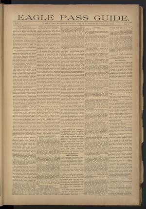 Eagle Pass Guide. (Eagle Pass, Tex.), Vol. 8, No. 9, Ed. 1 Saturday, October 26, 1895